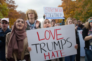 "Over 500 students and community members turned out last Friday for the ""Not My America"" peaceful protest, a demonstration against the rhetoric of Donald Trump's presidential campaign and his possible policies."